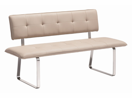 Zuo Modern Nouveau Bench Taupe