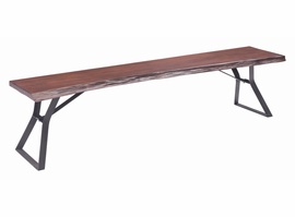 Zuo Modern Omaha Bench Distressed Cherry Oak