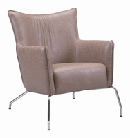 Zuo Modern Ostend Occasional Chair Saddle Brown