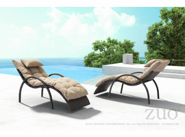 Zuo Modern Outdoor Lounge + Coffee + Side