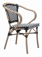 Zuo Modern Paris Dining Arm Chair Black & White, Set of 2