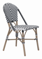 Zuo Modern Paris Dining Chair Black&white, Set of 2