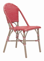 Zuo Modern Paris Dining Chair Red&white, Set of 2