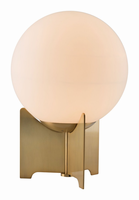 Zuo Modern Pearl Table Lamp White & Brushed Bronze