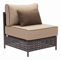 Zuo Modern Pinery Middle Chair Brown & Beige