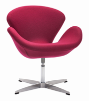 Zuo Modern Pori Arm Chair Carnelian Red