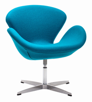 Zuo Modern Pori Arm Chair Island Blue