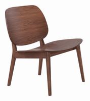 Zuo Modern Priest Lounge Chair Walnut, Set of 2