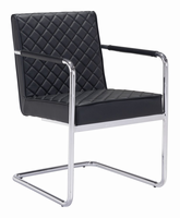Zuo Modern Quilt Dining Chair Black, Set of 2