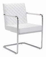 Zuo Modern Quilt Dining Chair White, Set of 2