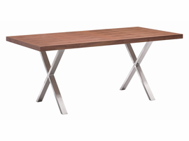 Zuo Modern Renmen Dining Table Walnut