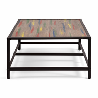 Zuo Modern Sawyer Coffee Table Multicolor Distressed Natural