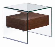Zuo Modern Shaman Side Table Walnut