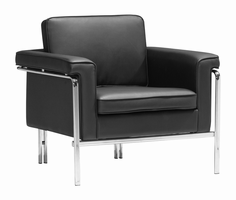 Zuo Modern Singular Arm Chair Black