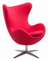 Zuo Modern Skien Arm Chair Red