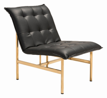 Zuo Modern Slate Chair Black & Gold