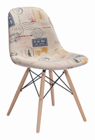 Zuo Modern Solo Dining Chair Vintage Postage Print