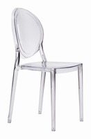 Zuo Modern Specter Dining Chair Clear, Set of 4