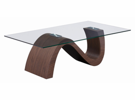 Zuo Modern St Laurent Coffee Table Walnut