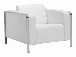 Zuo Modern Thor Arm Chair White
