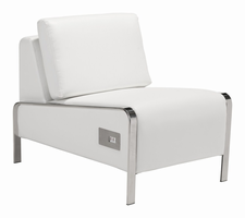 Zuo Modern Thor Armless Chair White