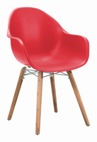 Zuo Modern Tidal Dining Chair Red, Set of 4