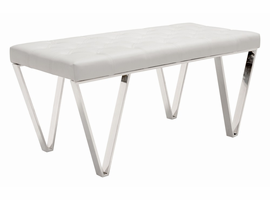 Zuo Modern Top Bench White