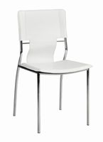 Zuo Modern Trafico Dining Chair White, Set of 4