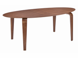 Zuo Modern Virginia Key Dining Table Walnut