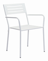 Zuo Modern Wald Dining Arm Chair White, Set of 2