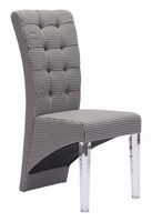 Zuo Modern Waldorf Dining Chair Houndstooth, Set of 2