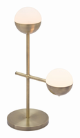 Zuo Modern Waterloo Table Lamp White & Brushed Bronze
