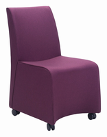 Zuo Modern Whittle Dining Chair Purple, Set of 2