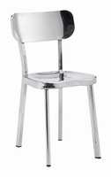 Zuo Modern Winter Chair Stainless Steel, Set of 2