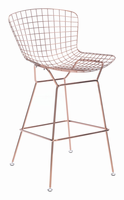 Zuo Modern Wire Bar Chair Rose Gold, Set of 2
