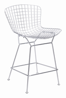 Zuo Modern Wire Counter Chair Chrome, Set of 2