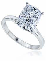 1.5 Carat Elongated Cushion Cut Cubic Zirconia Cathedral Solitaire Engagement Ring