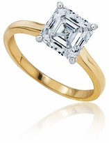 1 Carat Asscher Cut Cubic Zirconia Cathedral Solitaire Engagement Ring