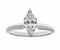 1 Carat Marquise Cubic Zirconia Classic Solitaire Engagement Ring