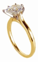 1 Carat Pear Cubic Zirconia Cathedral Solitaire Engagement Ring