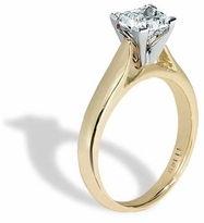 10 Carat Princess Cut Cubic Zirconia Cathedral Solitaire Engagement Ring