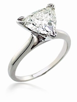 11 Carat Trillion Triangle Cubic Zirconia Cathedral Solitaire Engagement Ring