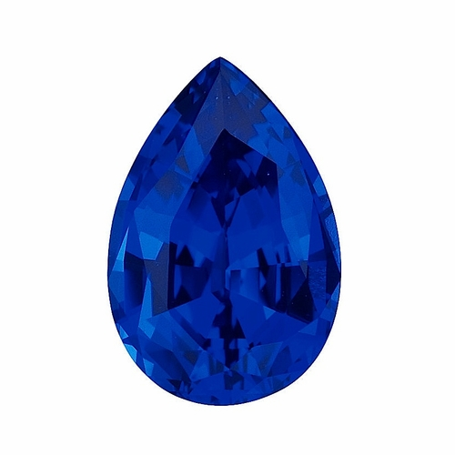 14 Carat 20x14mm Pear Blue Sapphire Lab Created Synthetic