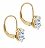 2 Carat Each Marquise Cubic Zirconia Leverback Earrings