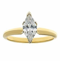 2 Carat Marquise Cubic Zirconia Classic Solitaire Engagement Ring