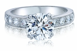 2 Carat Round Royal Crown Double Prong Cubic Zirconia Pave Bridal Set