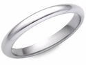 Ladies 2mm Comfort Fit Wedding Band in Platinum