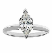 3 Carat Marquise Cubic Zirconia Classic Solitaire Engagement Ring