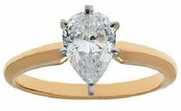 3 Carat Pear Cubic Zirconia Classic Solitaire Engagement Ring