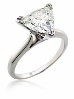 3 Carat Trillion Triangle Cubic Zirconia Cathedral Solitaire Engagement Ring